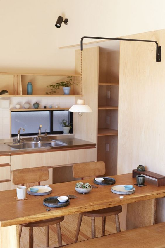 Minimalist Japanese Themed Kitchen Area